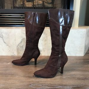 5/$20 Jessica Faux-Suede Boots, Size 8